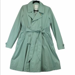 Diesel sea foam long cotton trench coat